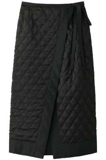 REKISAMI レキサミ キルティングラップスカート ブラック