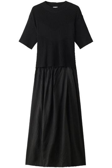 REKISAMI レキサミ リブニットフレアスカートセットアップ ブラック