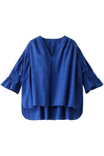 REKISAMI レキサミ 【予約販売】コットンパンチングレースブラウス ブルー