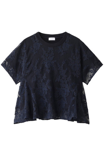 REKISAMI レキサミ 【予約販売】レースコンビTシャツ ネイビー