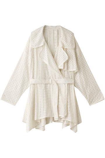 REKISAMI レキサミ 刺繍前開きジャケット ホワイト