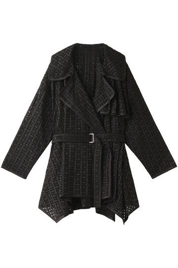 REKISAMI レキサミ 刺繍前開きジャケット ブラック