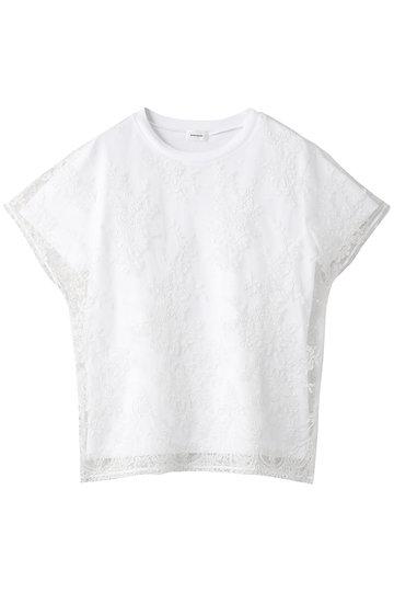 REKISAMI レキサミ コットン刺繍トップス ホワイト