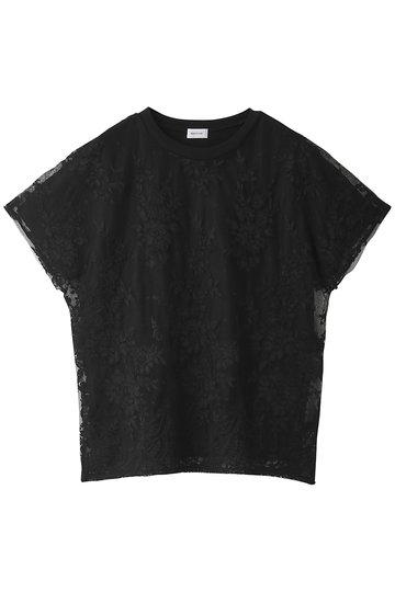 REKISAMI レキサミ コットン刺繍トップス ブラック