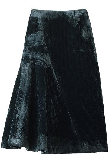 REKISAMI レキサミ 【予約販売】ベロアキルティングスカート ブルー