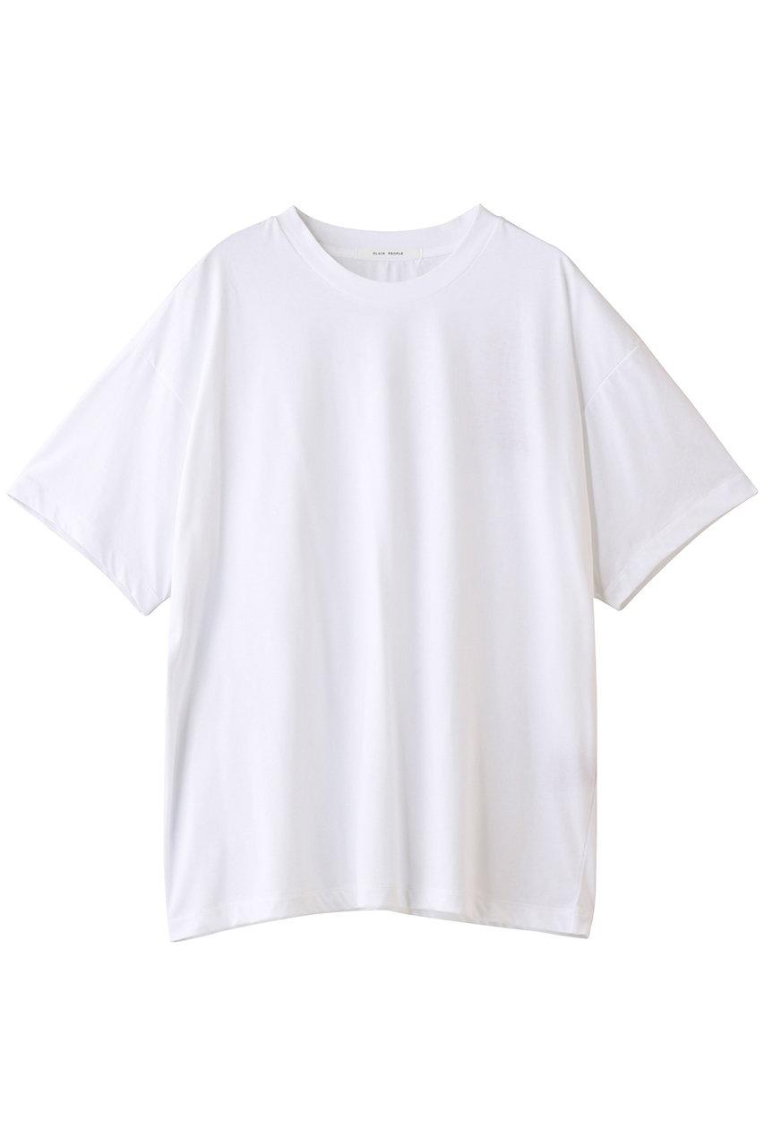 プレインピープル/PLAIN PEOPLEのコットンシルク天竺Tシャツ(ホワイト/A1511UB 432)