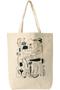 トラネコボンボンイラストトートバッグ プレインピープル/PLAIN PEOPLE ホワイト1
