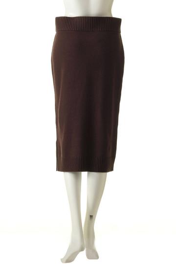 プレインピープル/PLAIN PEOPLEのウールカシミヤニットスカート(ホワイト/H1573KS 103)