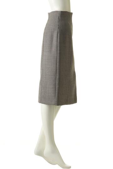プレインピープル/PLAIN PEOPLEのガンクラブチェックハイウエストスカート(ブラック×ボルドー/H1573FS 714)