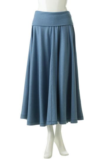 プレインピープル/PLAIN PEOPLEのウールコットンジャージフレアスカート(ブルー/H1581US 402)
