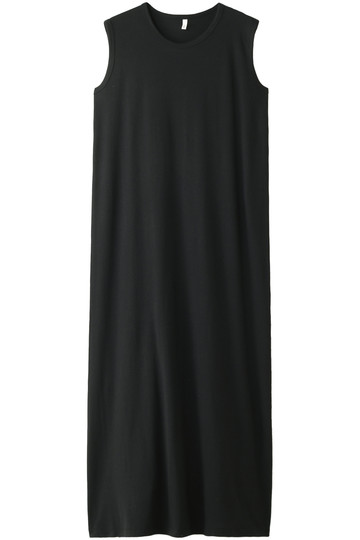 プレインピープル/PLAIN PEOPLEのフライスノースリーブドレス(ブラック/A1581UA 438)