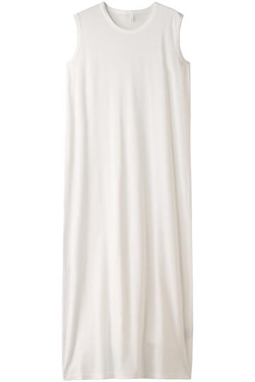 プレインピープル/PLAIN PEOPLEのフライスノースリーブドレス(ホワイト/A1581UA 438)