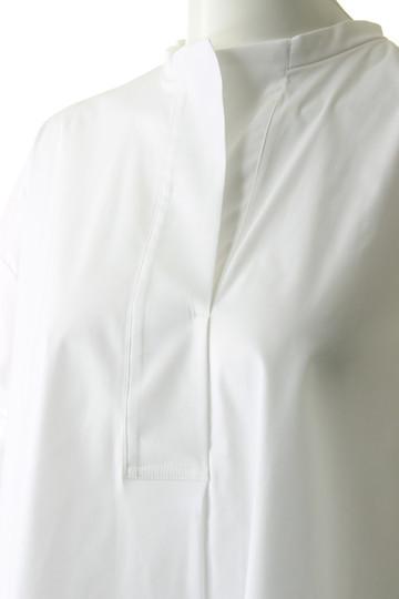 プレインピープル/PLAIN PEOPLEのストレッチブロードシャツブラウス(ネイビー/A1583FB 246)