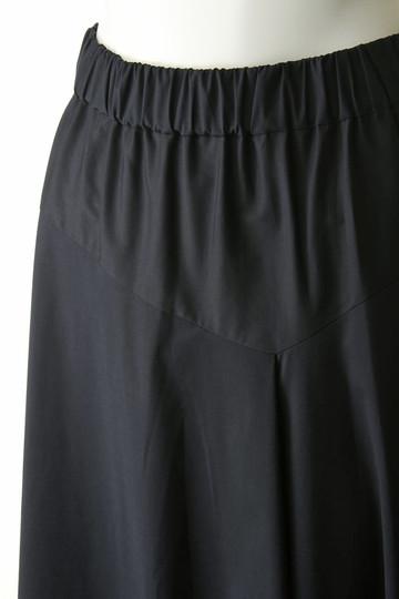 プレインピープル/PLAIN PEOPLEのストレッチブロードフレアスカート(ネイビー/A1581FS 274)