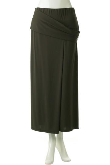 プレインピープル/PLAIN PEOPLEの強撚スムースロングスカート(ブラック/A1583US 405)