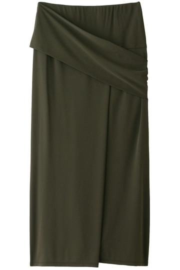 プレインピープル/PLAIN PEOPLEの強撚スムースロングスカート(カーキ/A1583US 405)