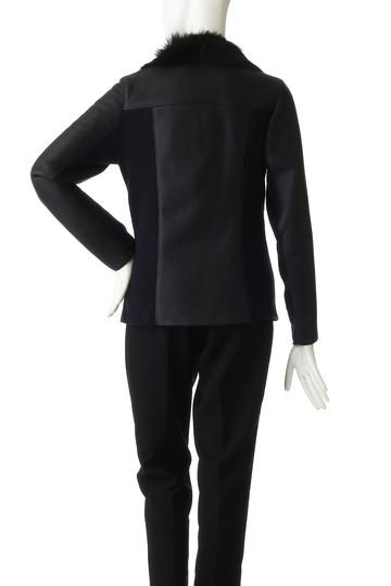 プレインピープル/PLAIN PEOPLEのムートンライダースジャケット(ブラック/H1578LC 901)