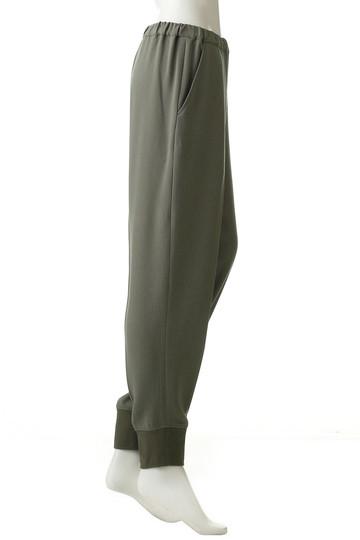 プレインピープル/PLAIN PEOPLEのアセテートポリエステル裾リブパンツ(ブラック/H1583FP 713)
