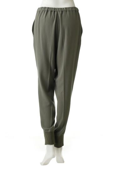 プレインピープル/PLAIN PEOPLEのアセテートポリエステル裾リブパンツ(トープ/H1583FP 713)