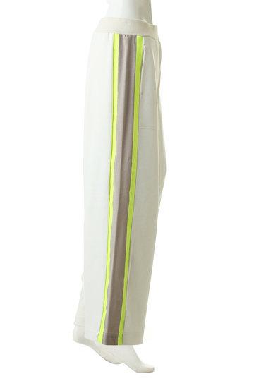 プレインピープル/PLAIN PEOPLEのコットン裏毛ジャージプリント側章パンツ(ホワイト/H1591UP 401)