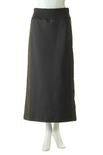 プレインピープル/PLAIN PEOPLEのクレープピケ切替スカート(カーキ/H1591US 406)