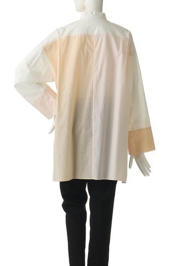 プレインピープル/PLAIN PEOPLEのパッチワークシャツブラウス(ピンクベージュ/A1591FB 222)