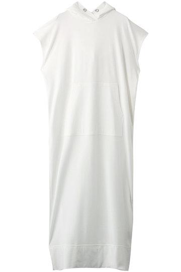 プレインピープル/PLAIN PEOPLEのコットンミニ裏毛フード付ワンピース(ホワイト/A1591UA 418)