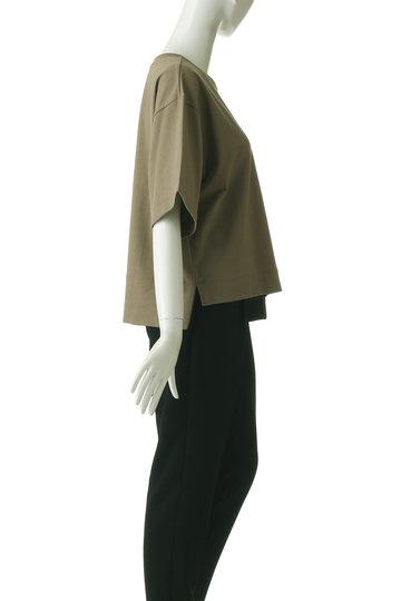 プレインピープル/PLAIN PEOPLEのオーガニックコットン天竺パッチポケットTシャツ(ライトブラウン/A1591UB 420)