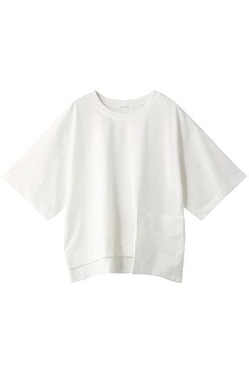 プレインピープル/PLAIN PEOPLEのオーガニックコットン天竺パッチポケットTシャツ(ホワイト/A1591UB 420)