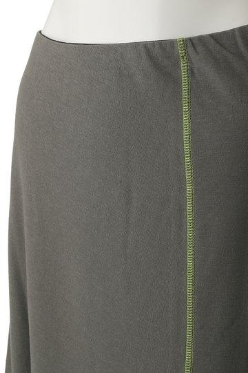 プレインピープル/PLAIN PEOPLEのコットンリネンミラノリブアシンメトリースカート(ネイビー/A1591US 424)