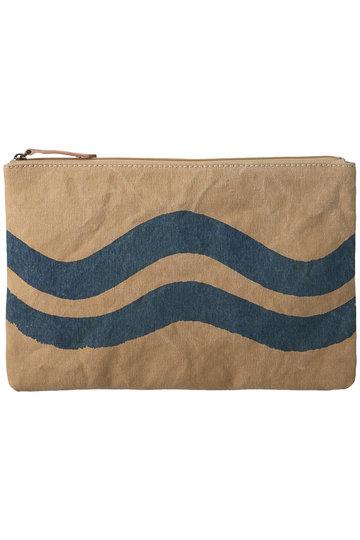 プレインピープル/PLAIN PEOPLEの【breezy blue】波柄トートバッグ(中)(ライトブラウン/A1596PBG622)