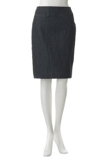 プレインピープル/PLAIN PEOPLEのリネンレーヨンシャンブレーデニム2WAYスカート(ネイビー/A1592FS 215)