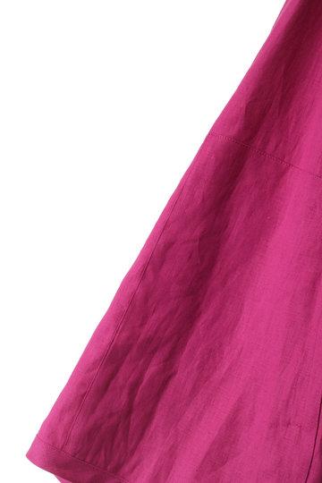 プレインピープル/PLAIN PEOPLEのリネンノーカラージャケット(ネイビー/A1591FJ 246)