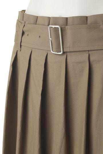 プレインピープル/PLAIN PEOPLEのコットンテンセルダンプニドムシリコン加工巻きスカート(ネイビー/A1591FS 718)