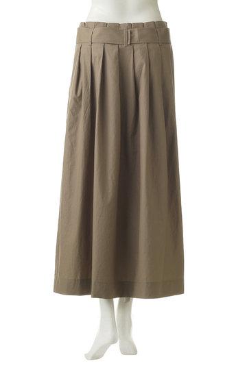 プレインピープル/PLAIN PEOPLEのコットンテンセルダンプニドムシリコン加工巻きスカート(カーキ/A1591FS 718)