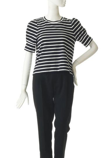 プレインピープル/PLAIN PEOPLEのコットン天竺シルケットパフスリーブTシャツ(ホワイト/A1591UB 450)