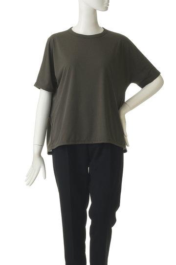 プレインピープル/PLAIN PEOPLEのコットンライク天竺クルーネックTシャツ(カーキ/A1591UB 803)