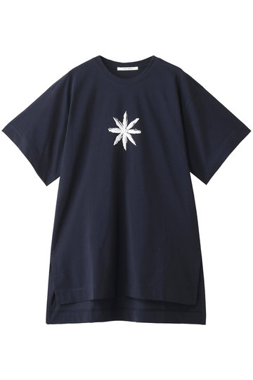 プレインピープル/PLAIN PEOPLEのコットンサイロプレミアムプリントビッグTシャツ(ネイビー/A1591UB 428)