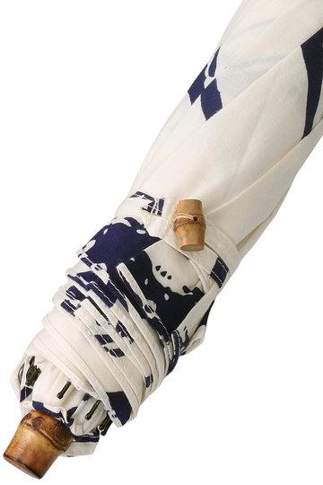 プレインピープル/PLAIN PEOPLEの【breezyblue】折りたたみ日傘 UV撥水(ホワイト×ネイビー/A1596PUM957)