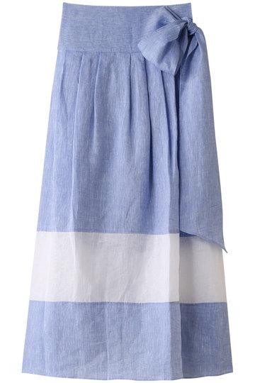 プレインピープル/PLAIN PEOPLEのハードマンリネンスカート(ブルー/A1591FS 271)