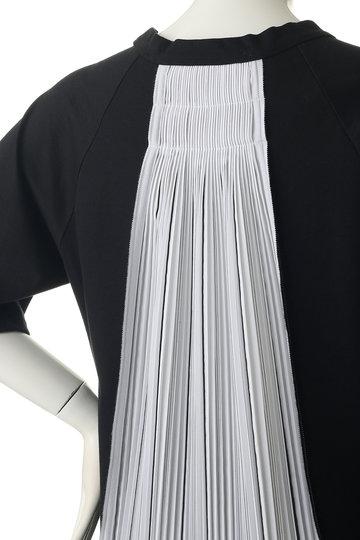 プレインピープル/PLAIN PEOPLEのコットン天竺異素材コンビブルオーバー(ブラック/A1591UB 438)