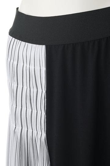 プレインピープル/PLAIN PEOPLEのコットン天竺異素材コンビスカート(ブラック/A1591US 439)