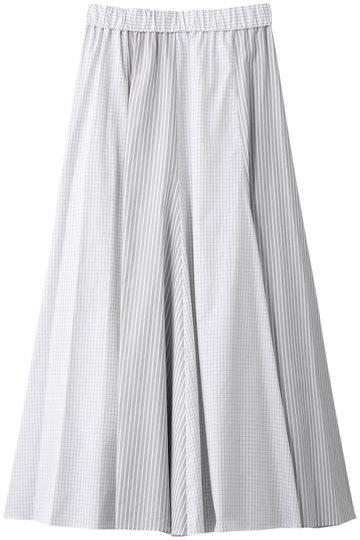 プレインピープル/PLAIN PEOPLEのコットン切替フレアスカート(ホワイト/A1591FS 262)