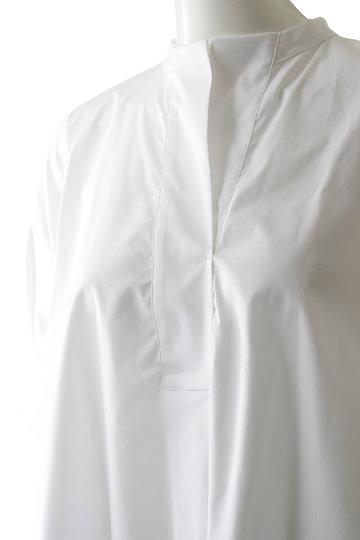 プレインピープル/PLAIN PEOPLEのストレッチブロードシャツブラウス(ベージュ/A1593FB 248)