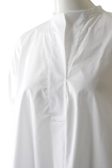 プレインピープル/PLAIN PEOPLEのストレッチブロードシャツブラウス(ネイビー/A1593FB 248)