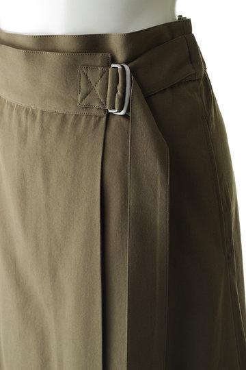 プレインピープル/PLAIN PEOPLEのコットンテンセルギャバ巻きスカート(キャメル/A1591FS 264)