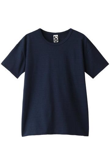 プレインピープル/PLAIN PEOPLEの【plainless】コットン天竺プリントTシャツ(ネイビー/A1594UB 400)