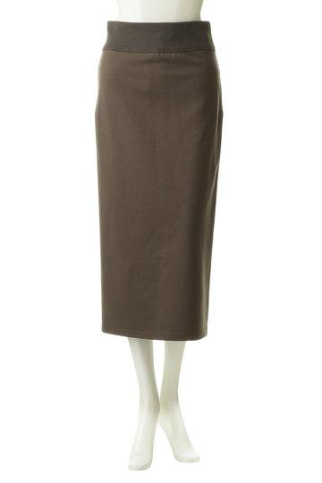 プレインピープル/PLAIN PEOPLEのコットン裏毛スカート(カーキ/A1593US 404)