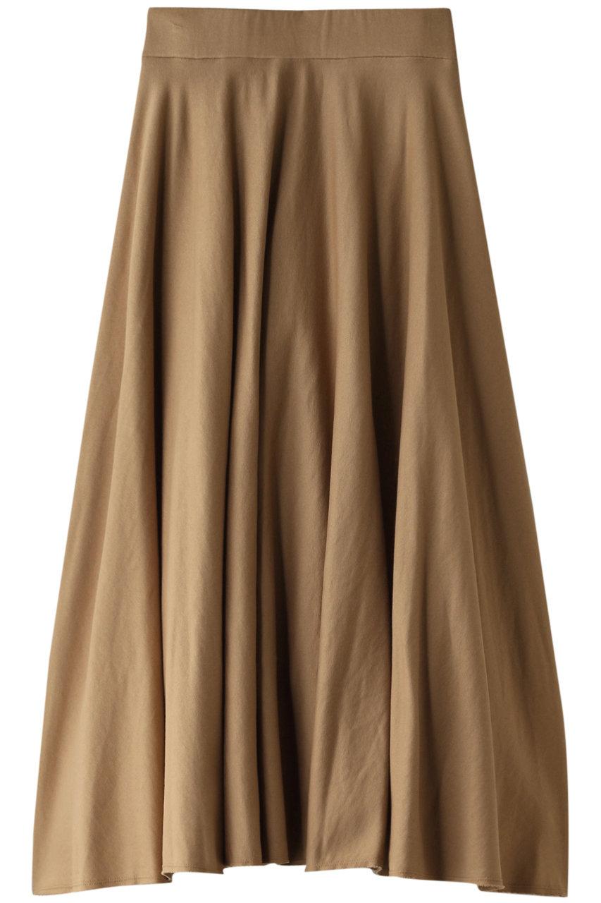 プレインピープル/PLAIN PEOPLEのオーガニックコットン裏毛フレアスカート(ベージュ/A1593US 421)