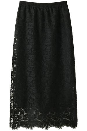 リーフ柄刺繍レースタイトスカート ザ ヴァージニア/The Virgnia